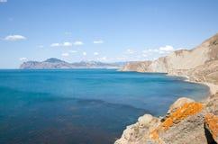 Kara Dag mountain shore Stock Image