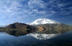 kara kul湖 免版税库存图片