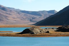 Kara-Kul lake Royalty Free Stock Images