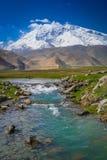 Kara Kul Lake outflow Stock Image