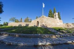 Karababa无背长椅堡垒在Chalkis的 免版税库存照片