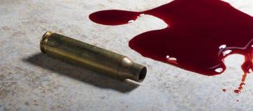 Karabin szturmowy krew i mosiądz Zdjęcie Royalty Free