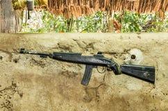 Karabinu pistolet - wojna w wietnamie Zdjęcie Royalty Free