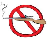 Karabinu pistoletu pozwolić znak Obrazy Stock