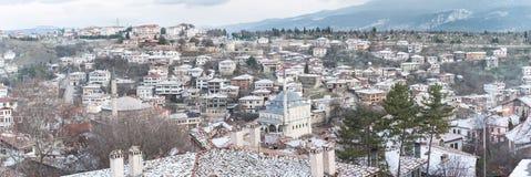 KARABUK, ТУРЦИЯ - 21-ОЕ ЯНВАРЯ 2016: Город Safranbolu Старый городок сохраняет много старых зданий с 1008 зарегистрировал историч стоковое изображение