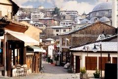 KARABUK, ТУРЦИЯ - 21-ОЕ ЯНВАРЯ 2016: Раздел рынка Safranbolu Старый городок сохраняет много старых зданий, с 1008 зарегистрирован стоковые фото