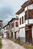 KARABUK, DIE TÜRKEI - 21. JANUAR 2016: Ein altes Ottaman Wander- folk( Yoruk) Dorf in Karabuk Lizenzfreie Stockfotos