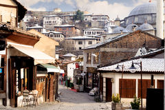 KARABUK, TURKEY - JAN 21, 2016: Market section of Safranbolu. The old town preserves many old buildings, with 1008 registered hist Stock Photos