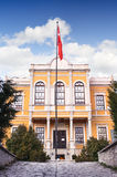 KARABUK, TURKEY - JAN 21, 2016: Safranbolu old Government Building.It was built on the hill called as castle in 1904 Royalty Free Stock Image