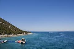 Karaburun Peninsula, Albania stock images