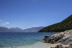 Karaburunschiereiland, Albanië stock foto's
