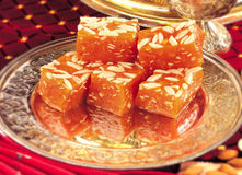 Karachi Halwa Antique Style Royalty Free Stock Photography