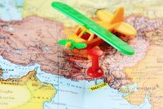 Karachi Pakistan map pin airport Stock Images