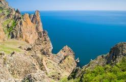 Karadag自然储备在克里米亚,乌克兰 库存图片