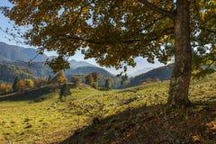 εθνική επιφύλαξη βουνών τοπίων της Κριμαίας φθινοπώρου karadag Στοκ Φωτογραφία