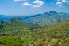 Karadag mountain range at spring season Royalty Free Stock Photography