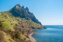Karadag volcanic mountain range Royalty Free Stock Photo