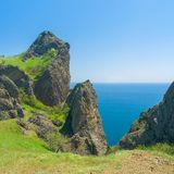Karadag volcanic mountain range Stock Images