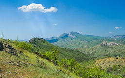 Karadag volcanic mountain range - Ukrainian natural reserve Royalty Free Stock Images