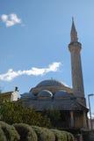 Karadjozbeg Mosque in Mostar. Bosnia and Herzegovina with blue sky in background Royalty Free Stock Photos