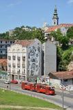 Karadordevastraat, Belgrado, Servië Stock Afbeeldingen