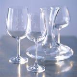 Karaf en glazen Royalty-vrije Stock Afbeeldingen