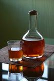 Karaf met whisky Stock Afbeelding