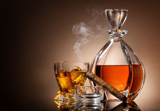 Karaf whisky Stock Foto's