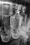 Karaff och exponeringsglas Royaltyfri Foto
