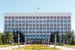 Karaganda, Казахстан - 1-ое сентября 2016: Akimat Karaganda Стоковые Фото
