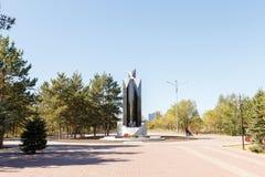 Karaganda, Kasachstan - 1. September 2016: Ein Monument zu sie Lizenzfreie Stockbilder