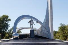 Karaganda, Kasachstan - 1. September 2016: Monument des Raumes herein stockbilder