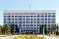 Karaganda Kasakhstan - September 1, 2016: Akimat av Karaganda Arkivfoton