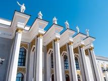 Karaganda Kasakhstan - September 1, 2016: Slott av kultur av royaltyfria bilder