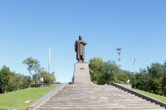 Karaganda, Kazakhstan - September 1, 2016: A monument to Abai Ku Stock Photo