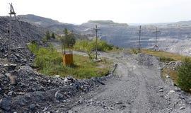 Karagaysky careers. pit mining Royalty Free Stock Photos