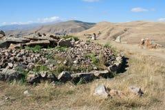 Karahunj Lugar del megalito de la prehistoria armenia Fotos de archivo libres de regalías