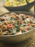 Karai Dish with Lamb Methi Gosht Royalty Free Stock Image
