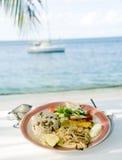 karaibski cavalli piec na grillu kingfish smażony styl Fotografia Royalty Free