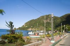karaibski Lucia parkowy soufriere st nabrzeże fotografia royalty free