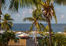 Karaibski wakacje z pięknym widokiem Zdjęcia Royalty Free
