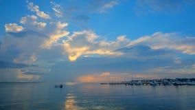 Karaibski wschód słońca od brzeg Fotografia Stock