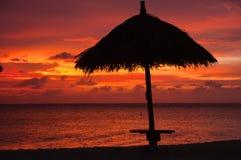 karaibski zmierzch Zdjęcia Royalty Free
