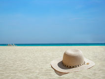 karaiby kapelusz na plaży Fotografia Royalty Free