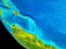 Karaiby na ziemi od przestrzeni Zdjęcie Stock