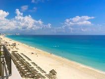 Karaiby nawadnia z Cancun na zatoce meksykańskiej zdjęcie royalty free