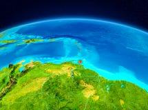 Karaiby od orbity Zdjęcia Royalty Free