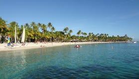 Karaiby plaży sceneria Zdjęcia Stock
