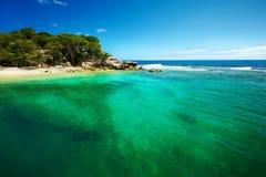 Karaiby plażowy i tropikalny morze w Haiti Obraz Royalty Free