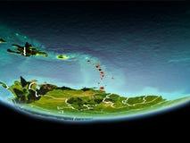 Karaiby w czerwieni w wieczór Zdjęcie Stock